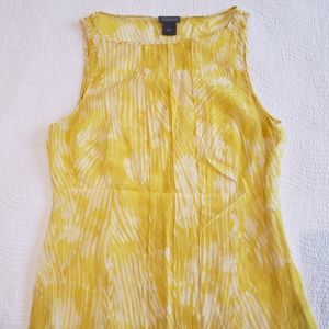 Ann Taylor Sleeveless Floral Top Size S